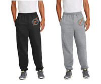 Cotton Pants - Elastic @ Ankles w/ Embroidered Logo, Adult Sized
