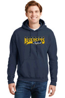 Cotton Hooded Sweatshirt w/ Printed Logo Victor Softball
