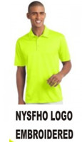 Men's Performance V-neck Polo Shirt w/ Embroidered Logo