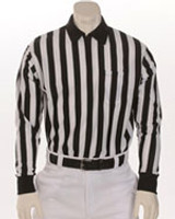 "Smitty FBS-113 1"" stripe Performance Heavyweight Interlock fabric Long-Sleeve Officials' Shirt"