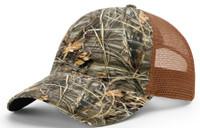 Richardson #111P Garment Washed Snap Back Camo Trucker Baseball Hat