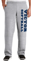Cotton Pants w/ Pockets & Printed Victor Softball