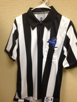 "New York State Short-Sleeve Football Officials' Shirt, 2 1/4"" Stripe, Printed NYSACFO Logo"