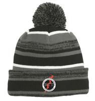 Winter Knit Beanie w/ Pom Pom & Embroidered RITPA