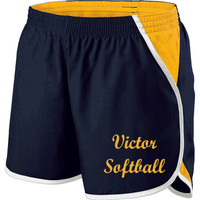 "Ladies' Shorts, 4"" Inseam w/ Printed Logo"