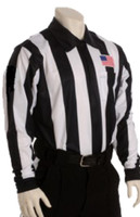 "Smitty USA110 2 1/4"" Stripe Moisture Management Long-Sleeve Football Officials' Jersey"