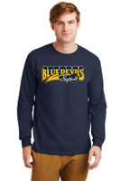 Cotton Long-Sleeve T-Shirt w/ Printed Logo, Adult