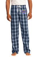 Flannel Plaid Pants, Men's Sized, w/ Embroidered Logo