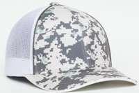 Pacific Headwear 408M Digital Mesh Camo Trucker Hat