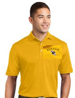 Men's Dry Mesh V-neck Polo Shirt w/ Embroidered Logo