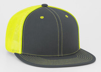 Pacific Headwear 4D5 D-Series Universal Fit Flat Bill Trucker Hat