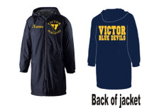 Hooded Sideline Jacket, Knee-Length w/ Printed and Embroidered Logo VICTOR DFS