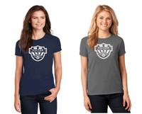 Cotton T-Shirt, Women's sized,  w/ Printed Logo