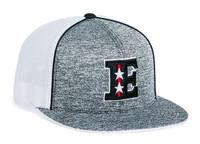 Pacific Headwear 4D6 Aggressive Heathered Universal Fit Flatbill Trucker Hat