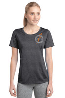 Women's Performance Heathered T w/ Printed Logo,  RITPA
