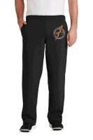 Cotton Pants, Unhemmed Bottom, Pockets, w/ Embroidered Logo RITPA