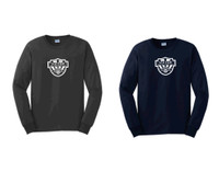 Cotton Long-Sleeve T-Shirt w/ Printed Logo, VSOCCER
