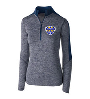 Holloway WOMENS Electrify 1/2 zip pullover, Adult w/ embroidered logo VSOCCER