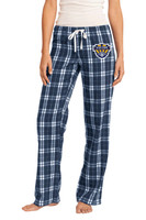 Flannel Plaid Pants, Women's sized, w/ Embroidered Logo