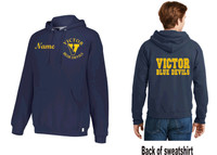 Russell Hooded sweatshirt w/ Printed and Embroidered Logo VICTOR DFS