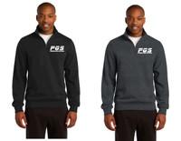 Adult 1/4 zip Cotton Sweatshirt w/ embroidered logo, PGS
