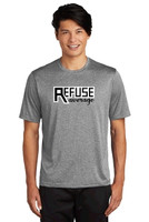 Performance Heathered T w/ Printed Logo, Adult, TALL_TRAINER