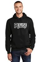 Adult Cotton Hooded Sweatshirt w/ Printed Logo TALL_TRAINER