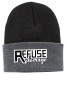 Winter Beanie - Fold over front & Embroidered TALL_T