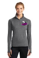 Women's LST850 Women's Sport-Wick® Stretch 1/2-Zip w/ Embroidered Logo, FL FEVER