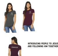 Cotton Women's Slim-Fit T shirt w/ Printed Logo LIFESPRING