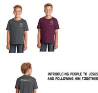 Cotton Youth Sized T shirt w/ Printed Logo LIFESPRING