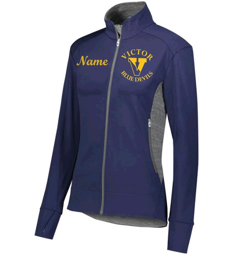 371262 Ladies Free Form Full-zip w/ Embroidered Logo VICTOR DFS