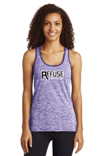 Women's Heathered Tank Top w/ Printed Logo,  TALL_TRAINER