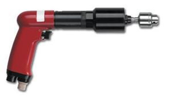 T500-P600 by Desoutter Industrial Tools Pneumatic tapping tool. Pistol grip.  .68 HP, 600 RPM free speed, 1200 RPM reverse. MAX tapping torque M12 in aluminum, M10 Steel