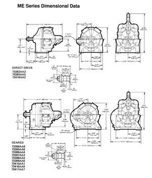 Cleco MER385M Radial Piston Air Motor | 6.5 hp | 120 rpm