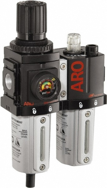 Ingersoll Rand ARO C38121-600 | 1/4'' NPT | 2 Piece FRL | Polycarbonate Bowl | 44 CFM | AirToolPro | Main Image
