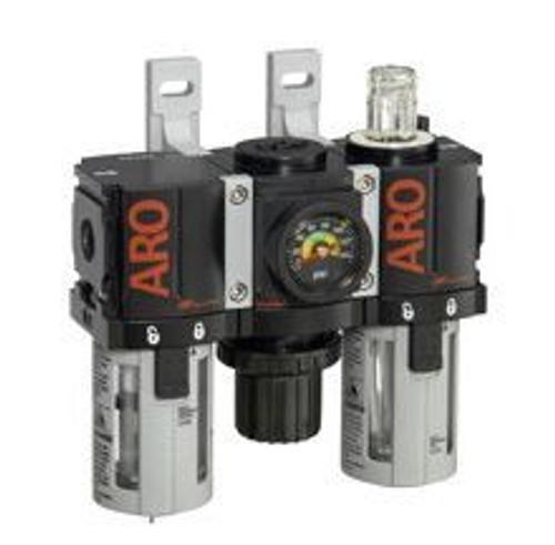 "Ingersoll Rand ARO C38121-801 Filter, Regulator, Lubricator (FRL) 1/4"" NPT | 46 CFM | Auto Drain | AirToolPro | Main Image"