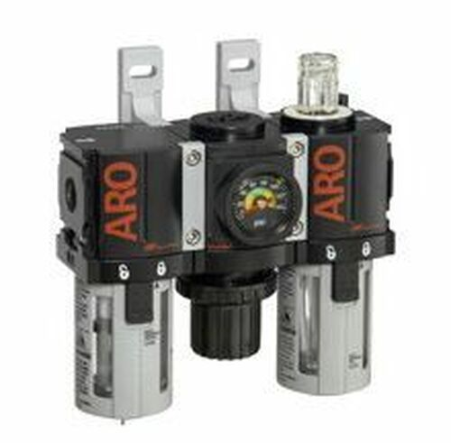 "Ingersoll Rand ARO C381A1-800 Filter, Regulator, Lubricator (FRL) 1/8"" NPT | 34 CFM | Manual Drain | AirToolPro | Main Image"