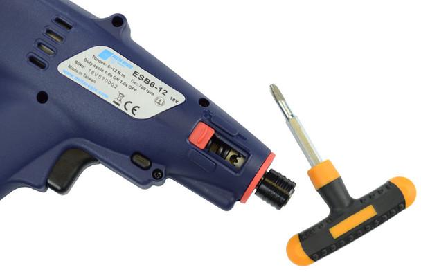 Delta Regis ESB6-12 Cordless Electric Screwdriver | Internal Torque Adjustment | 53-106 in.lbs. | 500-720 rpm