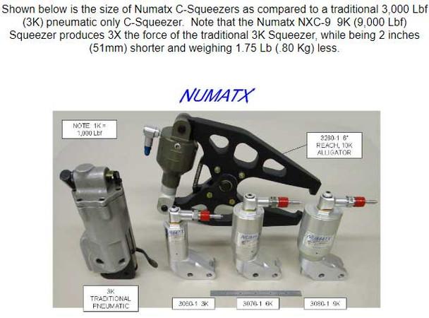 Numatx Squeezer Size Comparison