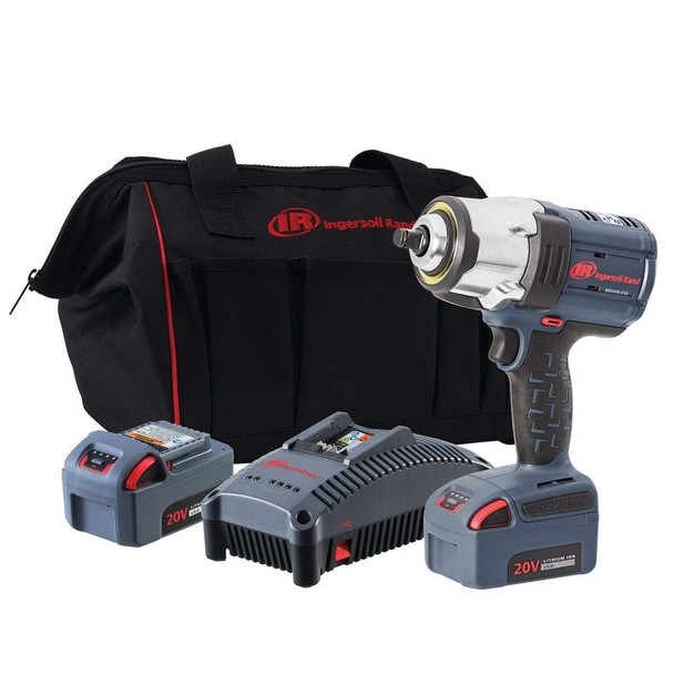 OVERSTOCK DEAL! (SOLD OUT)  - Ingersoll Rand W7152-K22 High-Torque 20V Impact Wrench | 2 Battery Kit | 1,500 ft. lbs.