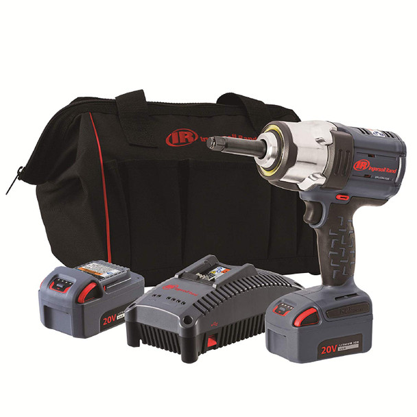 "Ingersoll Rand W7252-K22-OS (OVERSTOCK) High-Torque 20V Impact Wrench w/ 2"" Anvil 