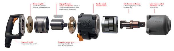 Ingersoll Rand 3940B2Ti Titanium Super Duty Impact Wrench Internals