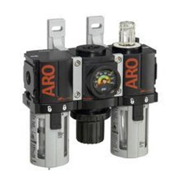 "Ingersoll Rand ARO C381B1-801 Filter, Regulator, Lubricator (FRL) 1/4"" NPT   46 CFM   Auto Drain   AirToolPro   Main Image"