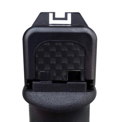 Carbon Fiber Slide Rear Cover Plate for Glock, GBP-CF