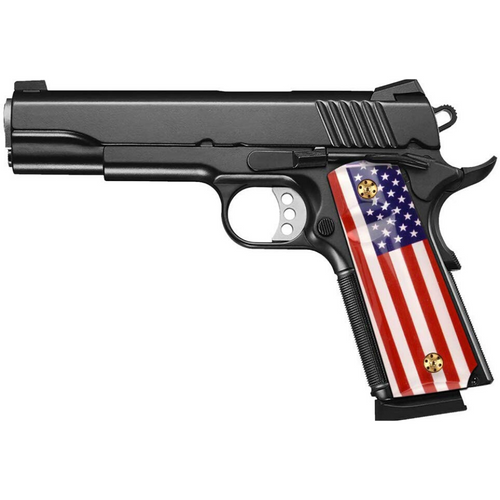 1911 Full Size Patriotic Grips with USA Flag (Government/Commander), High Polished Acrylic, Ambi Safety Cut, H1-S-ACUSF