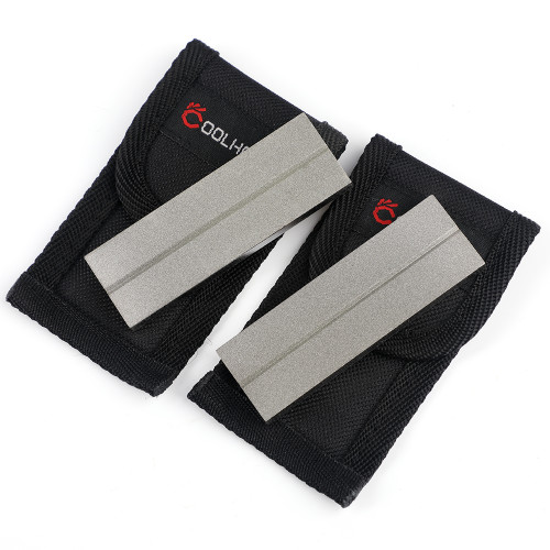 """3''x 1"""" Dual Sided Diamond Sharpening Stone w/ Pouch, 2 Packs, 5304"""