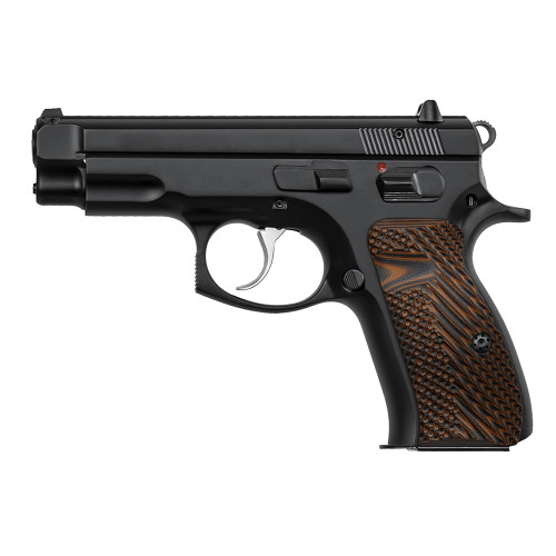 CZ 75 85 Compact Size Palm Swell G10 Gun Grips, Mag Release, Golf Ball Dimple Texture, Screws Included, H6C-G-28