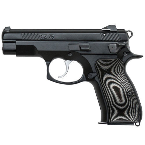 CZ 75 85 Compact Size Palm Swell G10 Gun Grips, Traditional Saw Cut, H6C-T-22