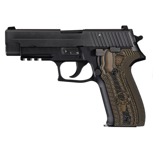 Sig Sauer P226 G10 Gun Grips Tactical Slant with Punisher 226-CP-24